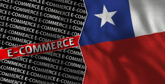 Chile,And,E-commerce,Titles,Flag,Together,-,3d,Illustration,Fabric
